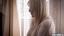 Horny blonde stepdaughter sucks a stepdads big cock