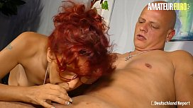 AMATEUR EURO - German Redhead Evelyn S. Allured By Stranger Into Sex