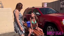 Teen Kacy Lynn fucks lesbian stepmother with dildo