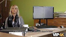 VIP4K. La blonde ange Katy Rose passe volontiers le sale casting de son gestionnaire de cr&eacute_dit