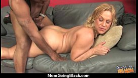Big tits bounce on a black cock and mom joins in! 16