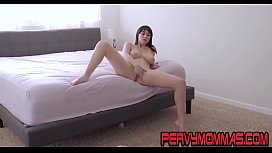 Busty milf masturbating while being secretly watched