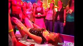 Tons of ladies are engulfing jocks