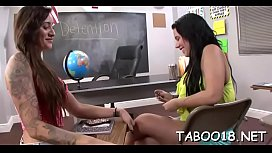 Slutty legal age teenager shows how to engulf a hard dick