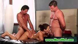 Eric Masterson and Tommy Gunn sharing a busty milf