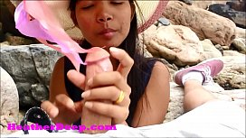 HD Heather Deep publicly fucked and goes cumdiving deepthroat and gets a creamthroat outdoors