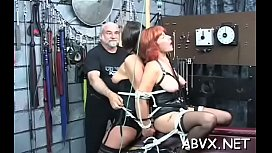 Extreme bondage with hot mom and juvenile daughter