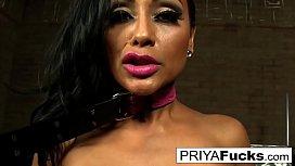 Priya Rai makes herself cum all over the music studio floor
