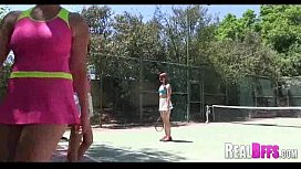 College girls tennis match turns to orgy 095