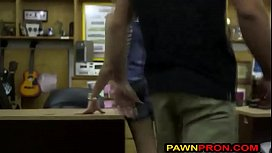 Perky Blonde Lady Shows What She Can do for Money