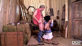 Cowgirl Sirale gets her gigantic natural boobs &amp_ wet pussy fucked real hard