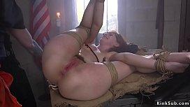 Prisoner grab and fuck tied up paralegal