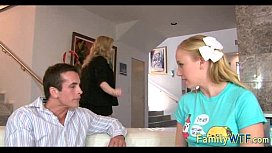 Husband and wife fuck the babysitter 111