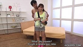 Japanese babe, Mei Wakana got nailed on the set, uncensored