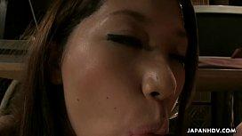 Sexy Japanese babe Seto Himari got her hairy twat slammed