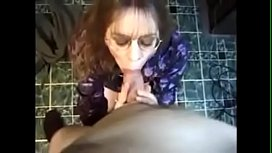 Neighbor milf blows and swallows