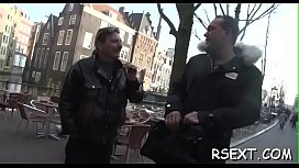 Horny man gets out and explores amsterdam redlight district