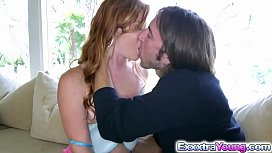 Redhead babe Alex Tanner takes a huge dick
