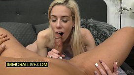DEEPTHROAT QUEEN NESTY SQUIRTS FROM HER PHAT, PUFFY HAIRY PUSSY!