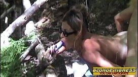 2 amateur lesbians in forest