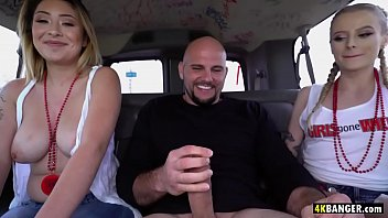 Amateur Girls Gone Wild On The Bangbus Paris White And Serena Skye