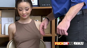 Slim Asian Teen Rides Thick White Dick Inside Inside The Office thumbnail