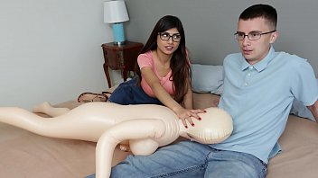 Mia Khalifa Nerdy Fan Gets To Lose His Virginity To The #1 Pornstar In The World thumbnail