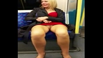 WHITE WOMAN SHOW'S PRETTY PUSSY ON TRAIN-T BABY