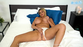Big tittied MILF masturbates before her husband comes home