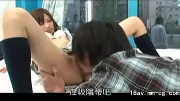 Japanese boy fucked a woman