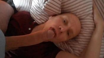 Gay sperm eating Morning cum feed correct version