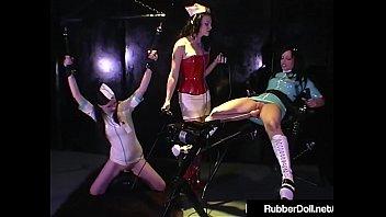 Streaming Video HN Rubberella Trains RubberDoll & Anastasia On Fuck Machines - XLXX.video