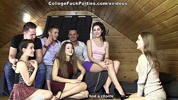 Fucking party games - Students ended the game hard orgy