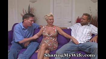 Wife in a threesome - Never too old for a threesome