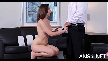 Lustful man is releasing his needs with zealous pounding