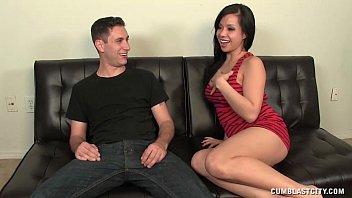 Cum Splatter For The Asian Babe 6 min