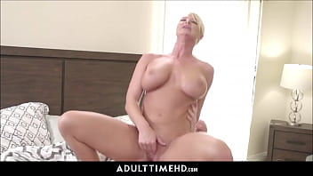 Big Tits Blonde MILF Step Mom Lets Lonely Step Son Fuck Her