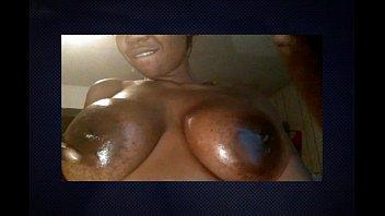 Big black boob clip - Jessica grabbit plays with her big tits