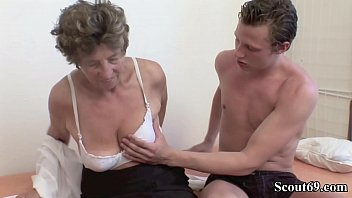 Extrem old German Grandma Moni Teach Young Guy to Fuck