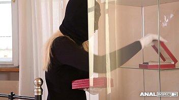 Anal Inspectors Double Penetrate Blonde Burglar Selvaggia After Break-In
