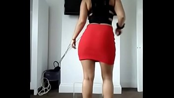 tight red skirt