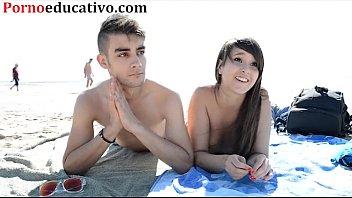 Nikki little y Miquel duque en una entrevista sexual en la playa