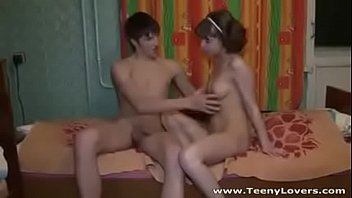 Beautiful teen couple having sex