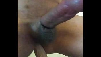 Guy rides big dildo and whimpers...