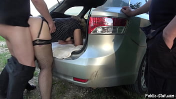 Cum dump Jessica creampied by lots of strangers at the local rest areas