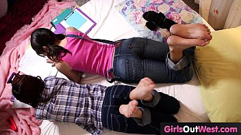 Hairy Lesbian Cuties Fuck During Lesson Of French