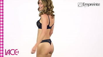 Lingerie model on underwear fashion show