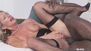 Private Black  Mature Busty Lady Mandy Bright Mounts A Big Black Cock