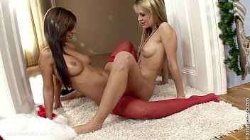 Festive Frolickers by Sapphic Erotica - Beatrice and Angelica lesbian fun