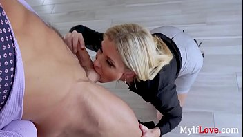 Blonde MILF Boss Makes Her Useless Employee's Dick Useful- India Summers